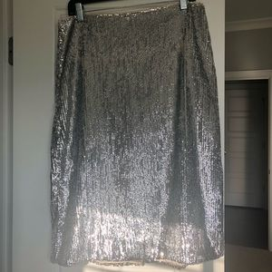 J Crew sequined pencil skirt NWT 10